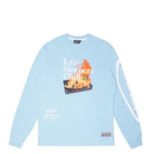LATE SLEEPERS LONGSLEEVES BABY BLUE FRONT